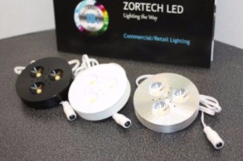 Zortech LED under cabinet puck lights